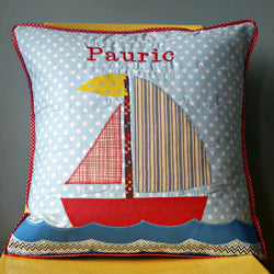 Personalised Cushion - Sail Boat -