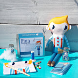 Finn  Sewing Kit - finished doll and sewing tin contents