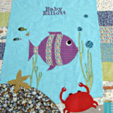 Personalised Cotton Quilt - Under the Sea -  - 1