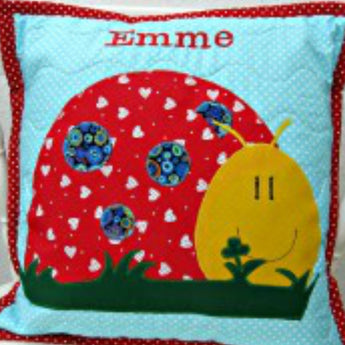 Personalised Cushion - Ladybird -
