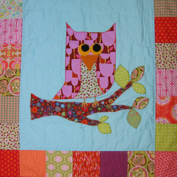 Personalised Cotton Quilt - Owl -  - 3