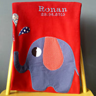 Personalised Baby Blanket - Elephant -  - 1