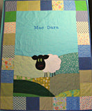 Personalised Cotton Quilt - Sheep -  - 2