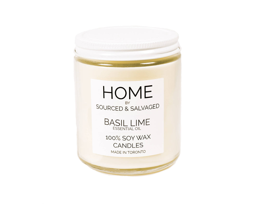 Basil Lime (ESSENTIAL OIL) Soy Wax Candle