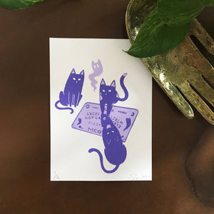 Ouija Cats Screenprint