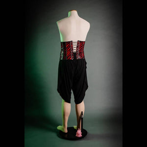 Sequined Spirt Child Corset in Red