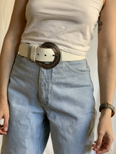 Load image into Gallery viewer, Winona - White Leather Belt