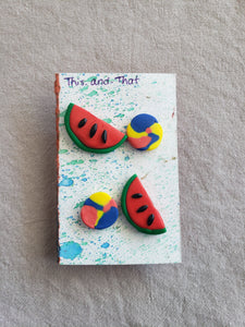 Polymer Clay Earrings - Food Series