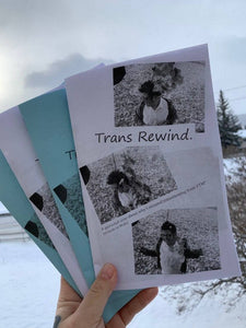 Trans Rewind-A personal zine about why I stopped transitioning from FTM