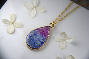 Bi Pride Teardrop Necklace