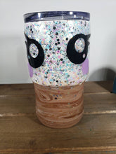 Load image into Gallery viewer, Kawaii Hot Chocolate and Marshmallow 14oz Acrylic Glitter Tumbler