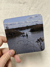 Load image into Gallery viewer, Leslie Spit / Tommy Thompson Park Toronto Coaster Set & Mini Zine - Entrance, Bird Sanctuary, Bricks on the Shore, Herons
