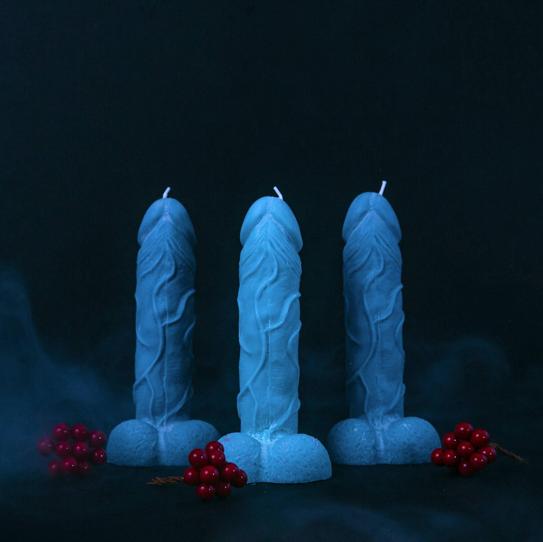 Blue Dick Candle