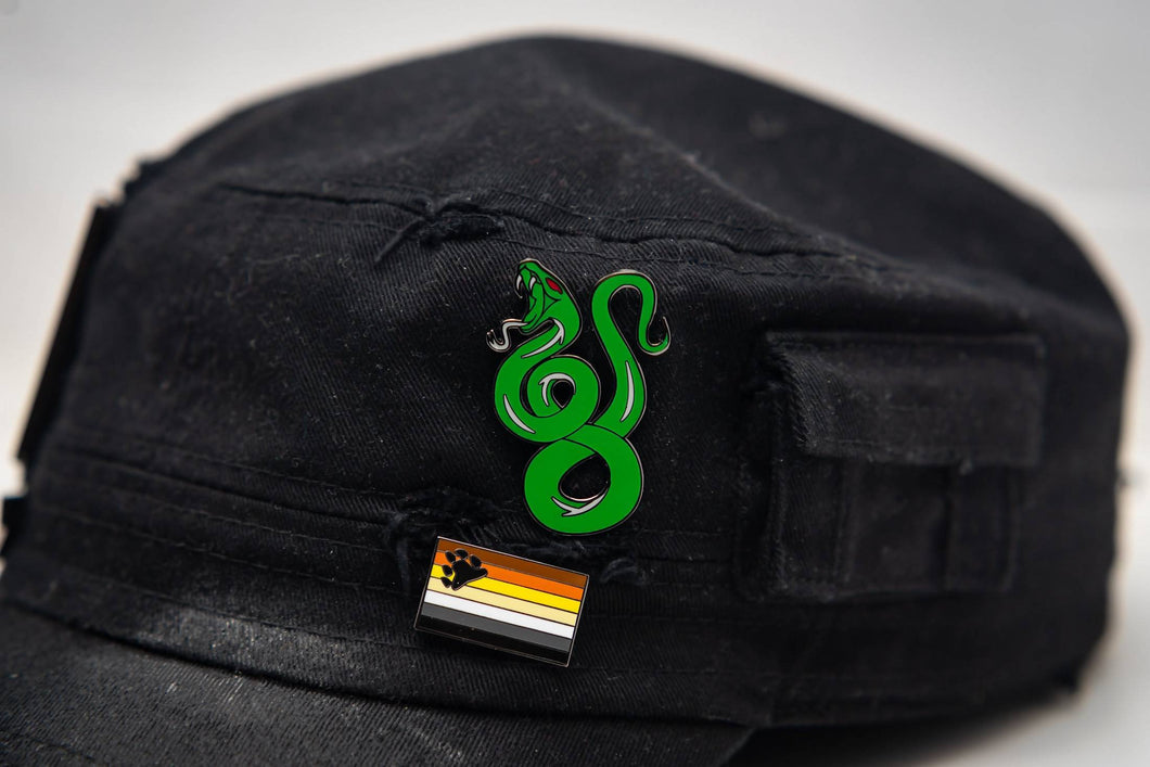 Cunning Snake Enamel Pin Badge Harry Potter Slytherin Inspired Gift For Her/Him