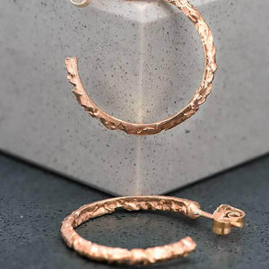 Baroque Hoops in Rose Gold