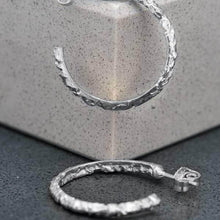 Load image into Gallery viewer, Baroque Hoops in Sterling Silver