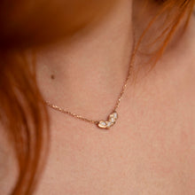 Load image into Gallery viewer, Baroque Opal Necklace in Rose Gold