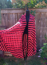 Load image into Gallery viewer, Hot Pink Stripe Cocoon Robe