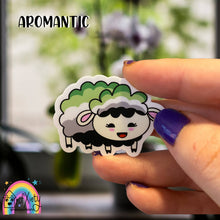 Load image into Gallery viewer, Aromantic pride sheep sticker