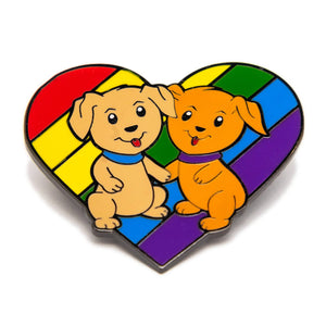 Pride Animal Enamel Pin Badge Collection Puppies Rainbow LGBTQ Gift For Him/Her
