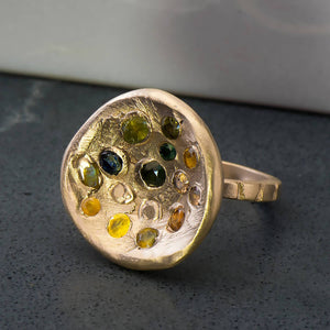 Cocktail Kimberlite Ring in Yellow Gold