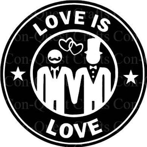 Love is Love Wedding Permanent Decal - DECAL ONLY