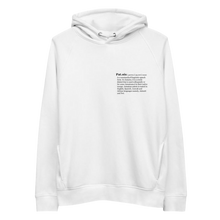 "Load image into Gallery viewer, Patois Inc.| ""Defined"" Unisex Hoodie"