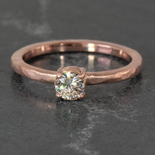 Load image into Gallery viewer, Diamond Hammer Finished Solitaire in Rose Gold