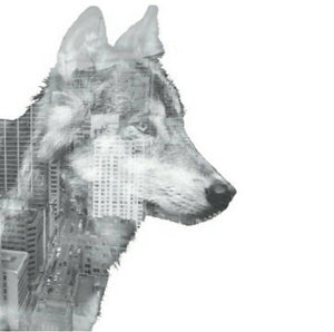 City Wolf 4 x 6 Postcard / Art Print