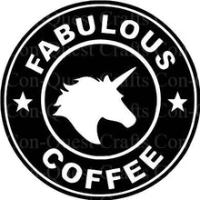Load image into Gallery viewer, Fabulous Flamingo/Unicorn Coffee Permanent Decal - DECAL ONLY