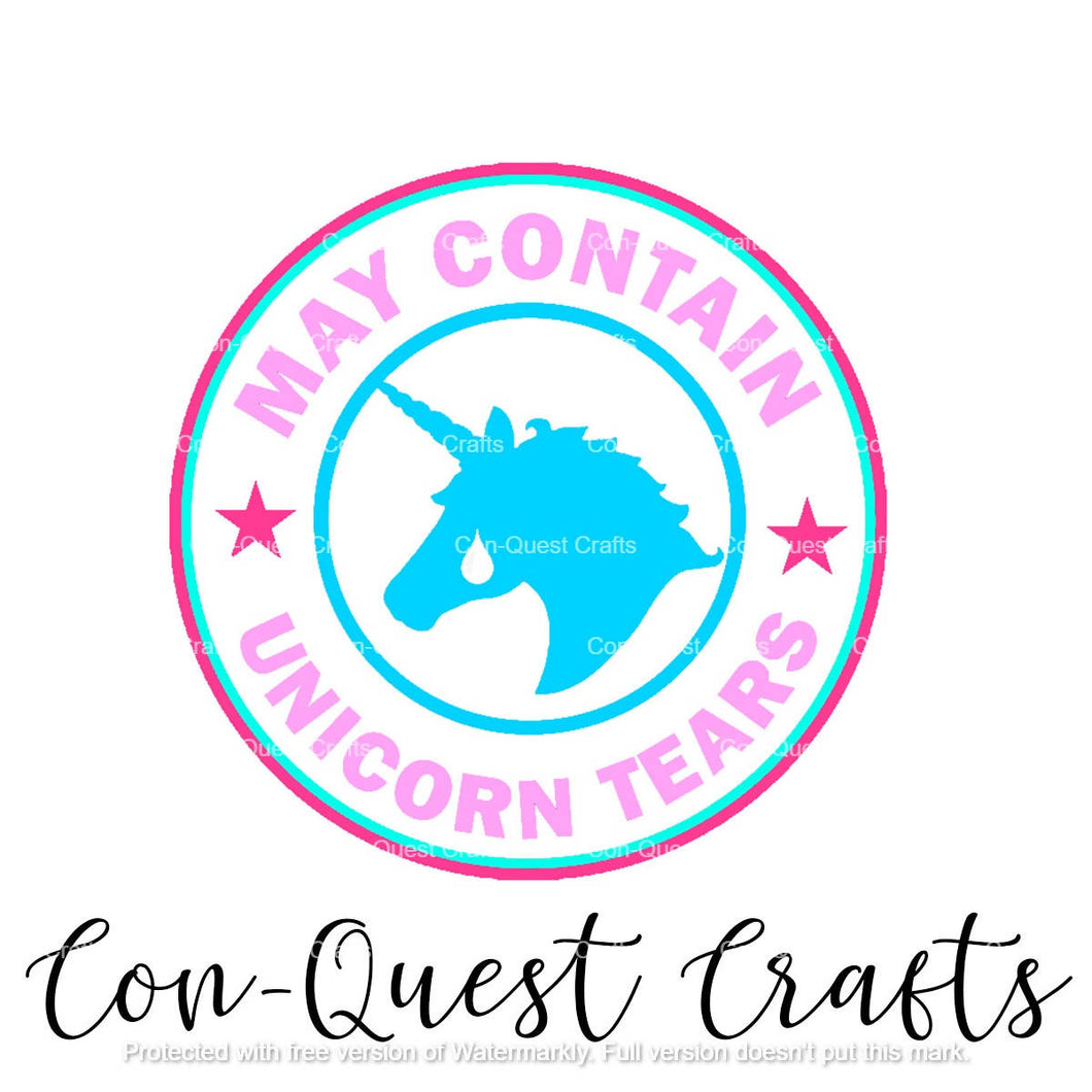May Contain Unicorn Tears Sticker