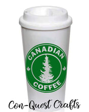 Load image into Gallery viewer, Canadian Coffee Permanent Adhesive Decal - DECAL ONLY