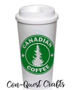 Canadian Coffee Permanent Adhesive Decal - DECAL ONLY