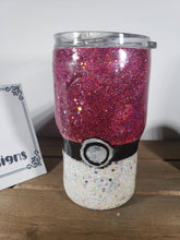 Load image into Gallery viewer, Pokeball 14 Oz Acrylic Glitter Tumbler