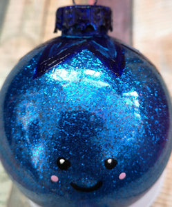 Blueberry Glitter Ornament