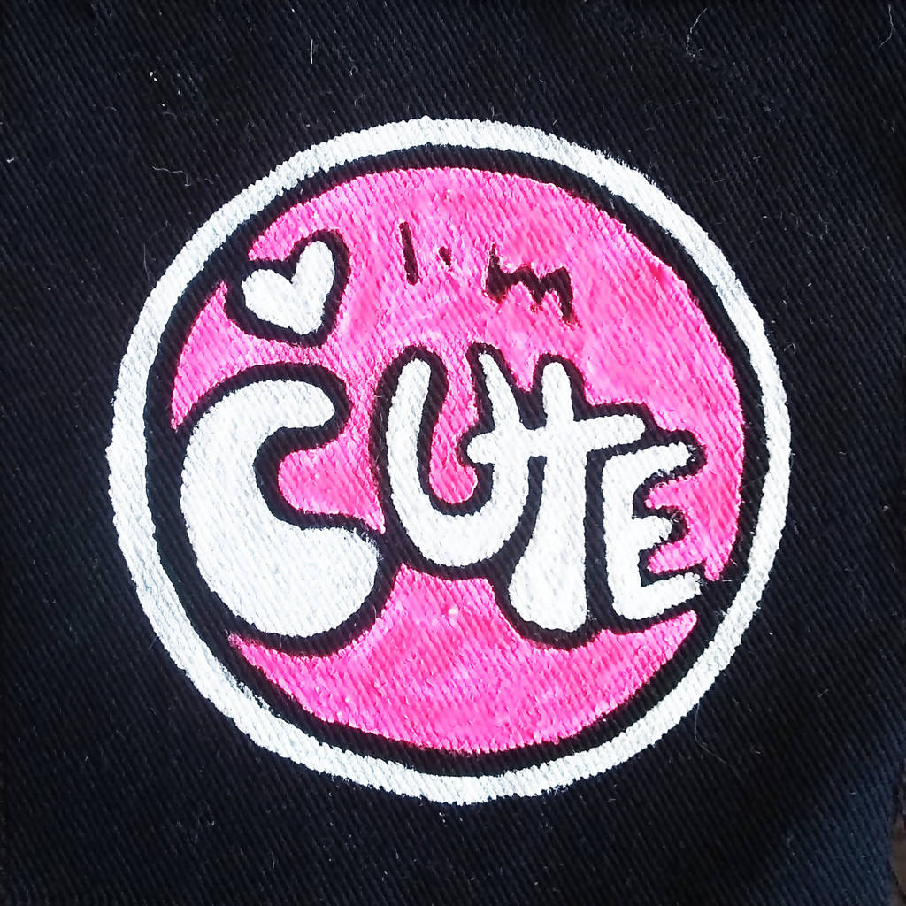 Painted Patch - I'm cute (pink)