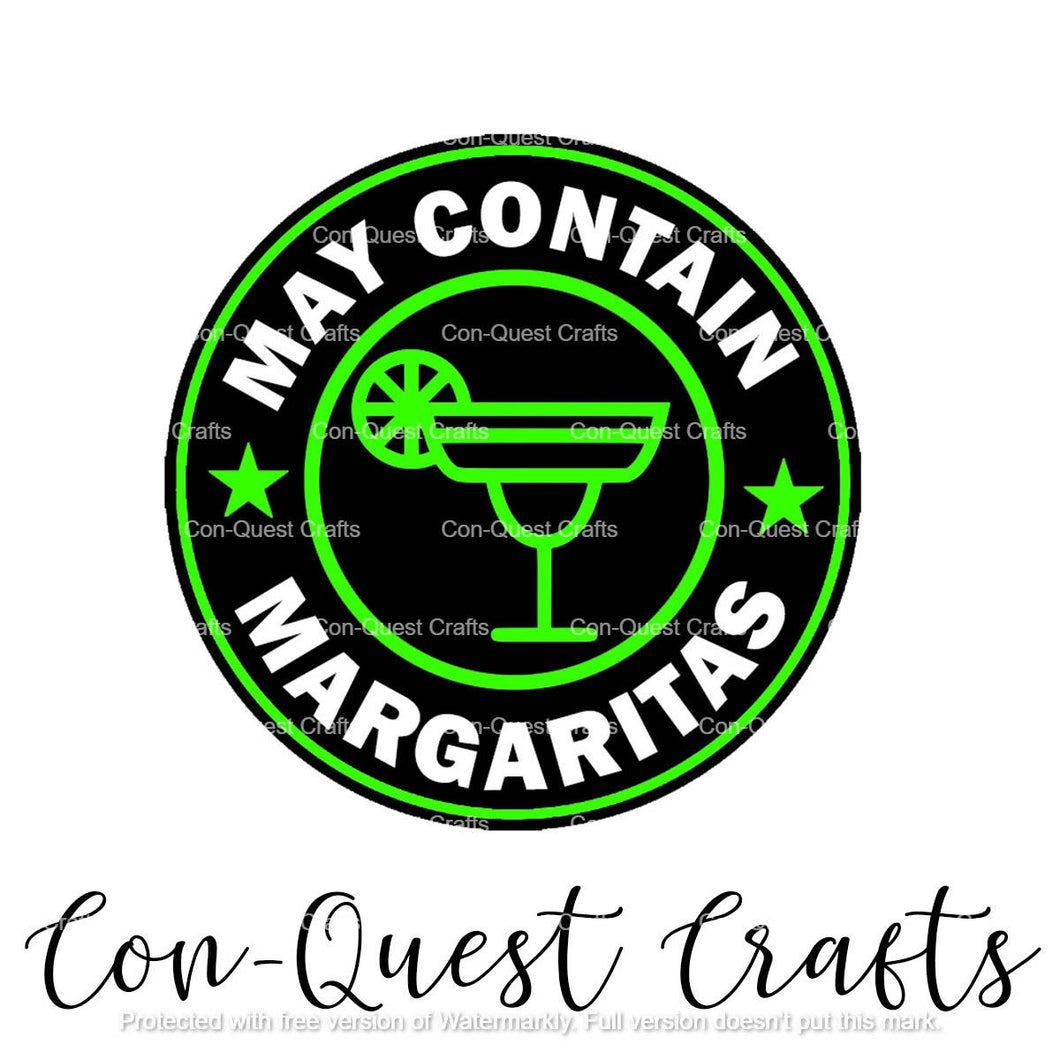 May Contain Margaritas Sticker