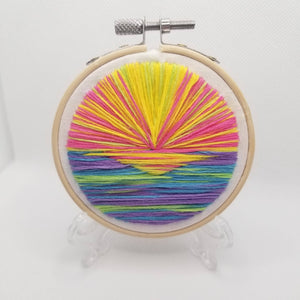 Pastel Embroidered Landscape