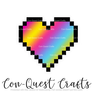 Pixel Heart Pride Flag Sticker