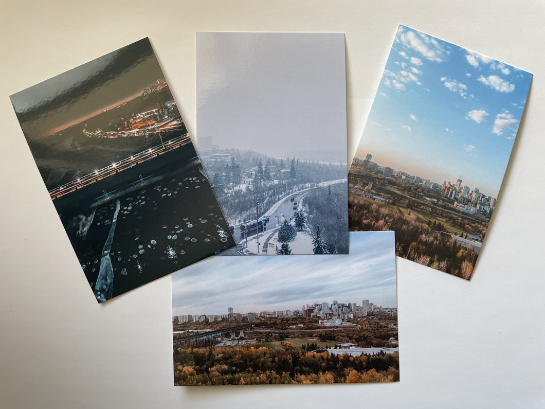 YEG 4 Pack Postcards
