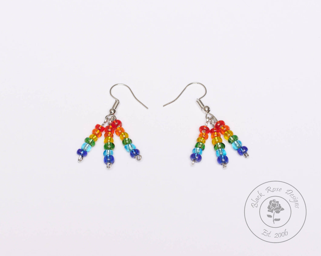 Drop Rainbow Pride Earrings