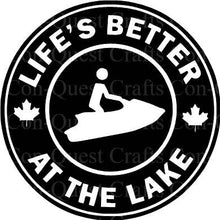 Load image into Gallery viewer, Life's Better at the Lake Permanent Decal - DECAL ONLY