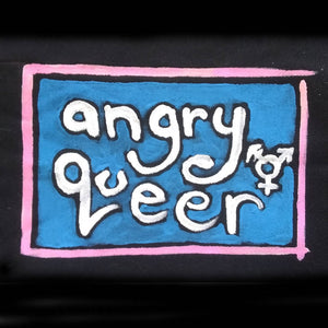 Painted Patch - Angry Queer in trans colors