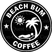 Load image into Gallery viewer, Beach Bum Coffee Permanent Decal - DECAL ONLY