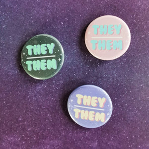 They/Them Pins
