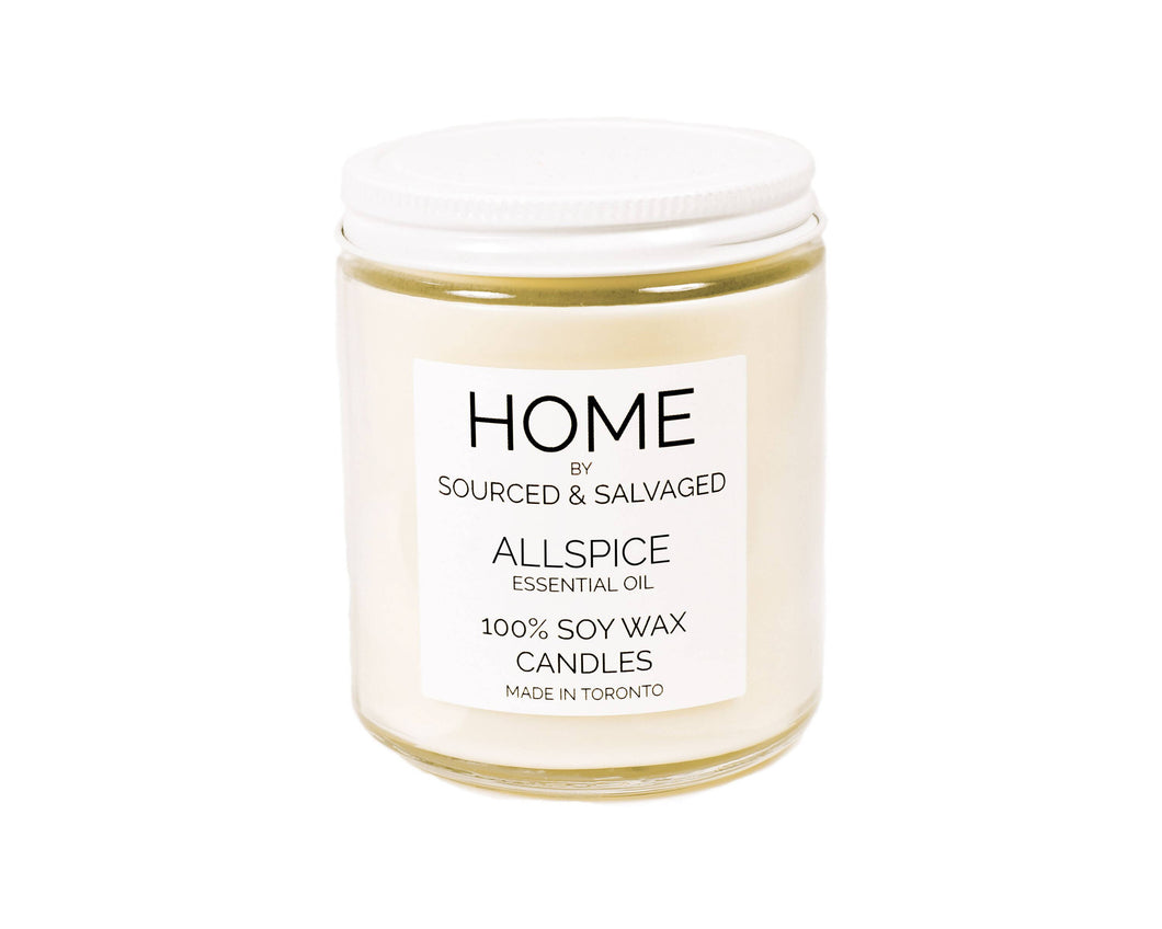 Allspice (essential oil) Soy Wax Candle