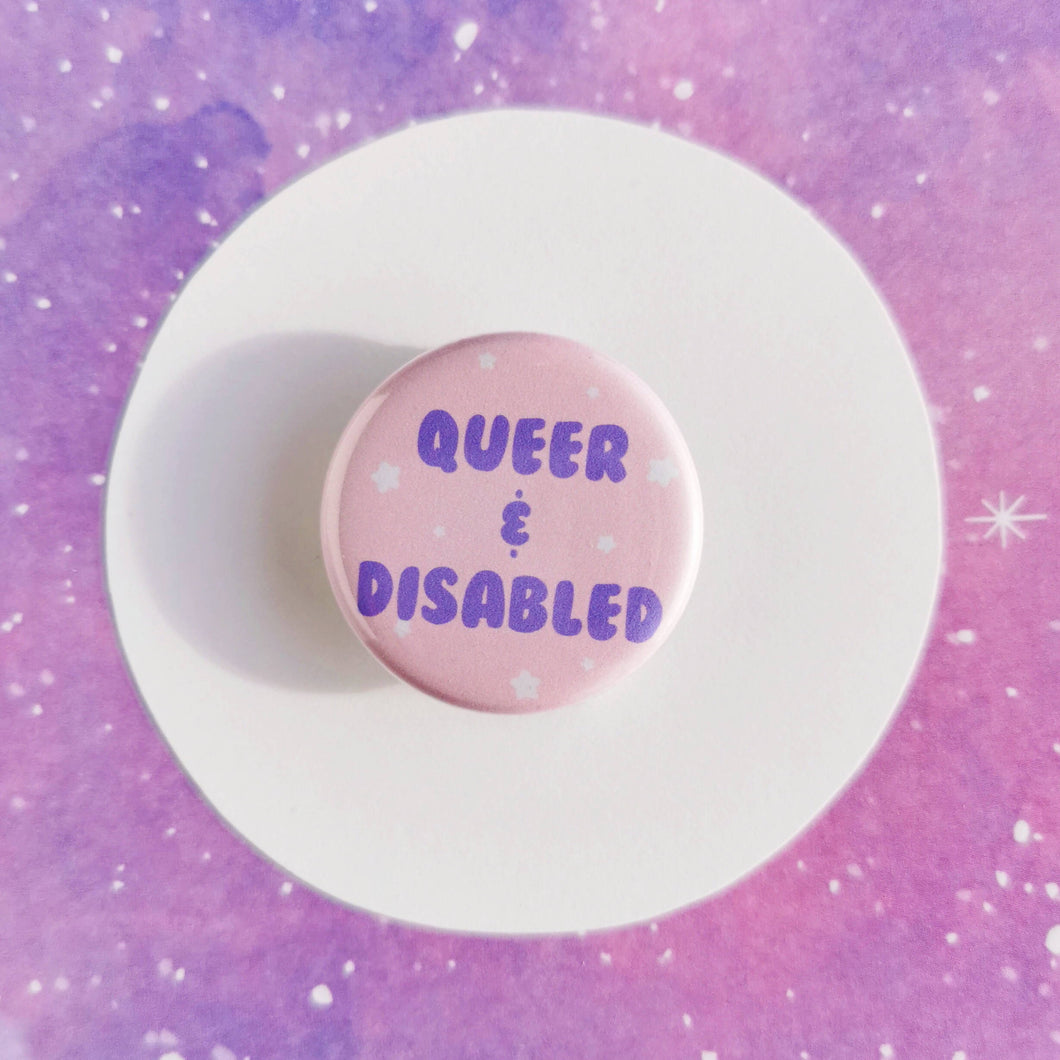 Queer and Disabled Pin