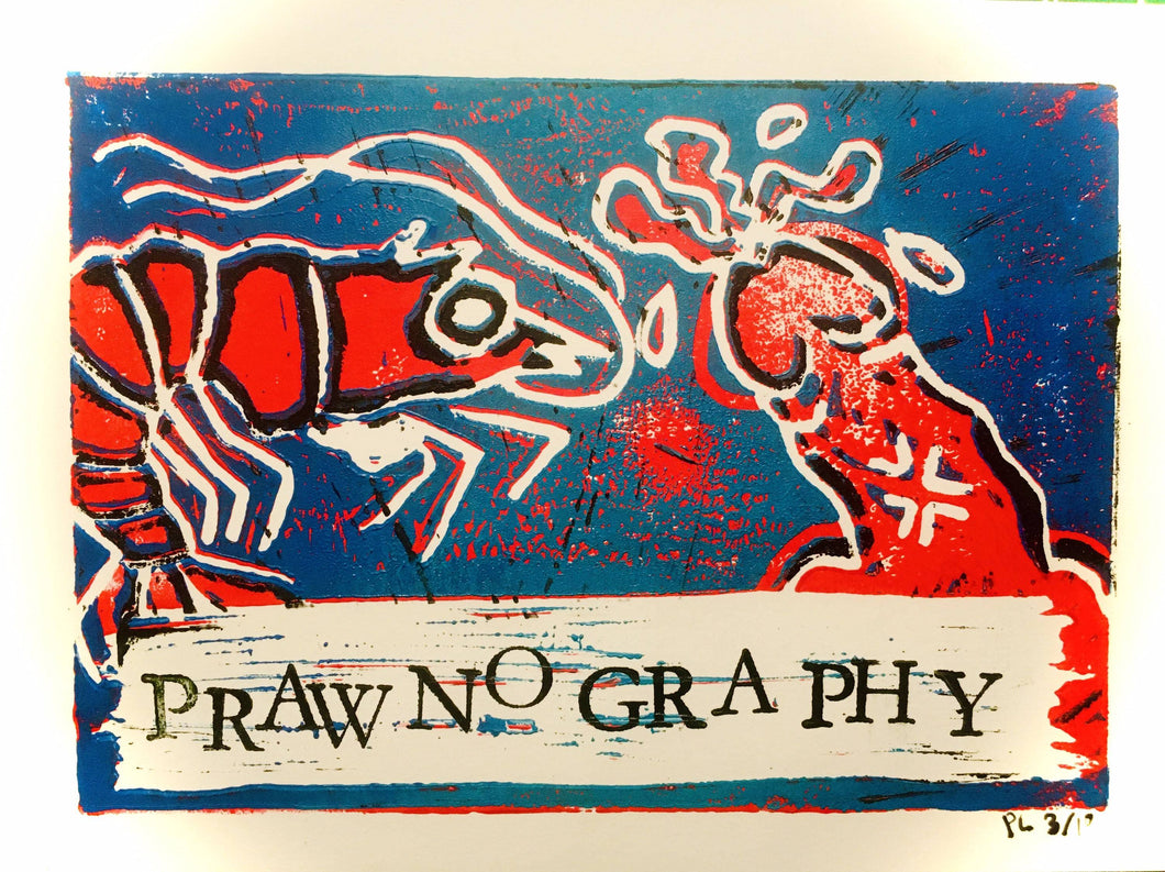 Prawnography in Red *FREE SHIPPING*