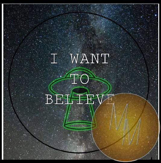 "I WANT TO BELIEVE - 1.25"" pinback button"