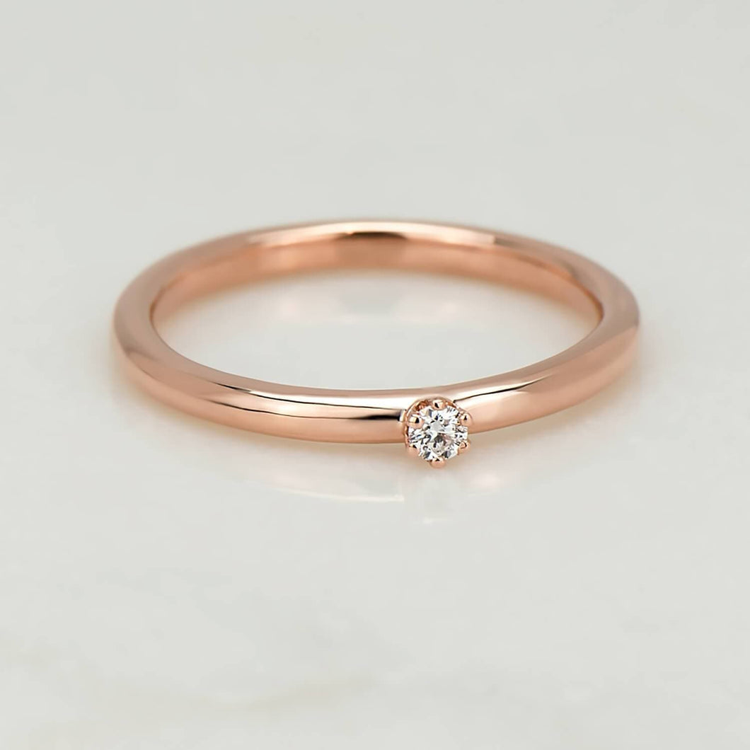 Recycled Diamond & Rose Gold Ring